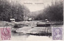 2673340Reichenberg,  Tiergartenpartie (rechts Unten Sher Kleine Falten) - Czech Republic