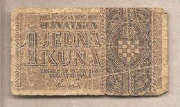 Croazia - Banconota Circolata Da 1 Kuna - P-7a - 1942 - Croazia