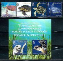 "Bermuda    ""Turtles""       Set & Souvenir Sheet     (new Issue March-22-2018)   MNH - Bermuda"