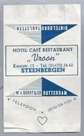 Suikerwikkel.- HOTEL CAFÉ RESTAURANT - VROON - Kaaistraat 12, STEENBERGEN. Sugar. Zucchero. Suiker. - Suiker