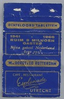 Suikerwikkel.- CAFÉ RETAURANT - ESPLANADE -. UTRECHT. 1941 1966. Sugar. Zucchero. Suiker. - Suiker