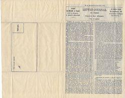"""Guerre Franco-Prussienne 1870-71. Lettre-Journal De Paris """"Gazette Des Absents"""" N°12 Du Mercredi 30 Novembre 1870 - Newspapers"""