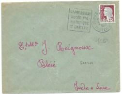 ENVELOPPE MARIANNE DE DECARIS N° 1263 /  GRAND PRESSIGNY INDRE ET LOIRE / 1961 - Poststempel (Briefe)