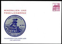 Bund PU115 B2/011 Privat-Umschlag GRUBE FRIEDRICHSSEGEN  Lahnstein 1980 - Geologie
