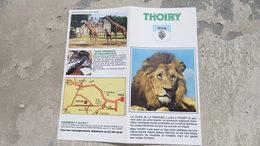 Ancien Prospectus Zoo THOIRY Comte De La Panouse ( Yvelines - 78 ) - Sports & Tourisme