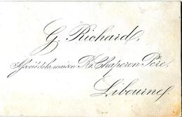 """Carte """"porcelaine"""" De Visite  Env.1840. G. Richard , Libourne - Visitekaartjes"""