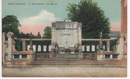 CPA 80 ( Somme ) - HAM - Le Monument Aux Morts ( Colorisé ) - Ham