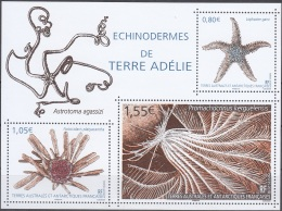 TAAF 2018 Bloc Feuillet Echinodermes De Terre-Adélie Neuf ** - Blocks & Kleinbögen