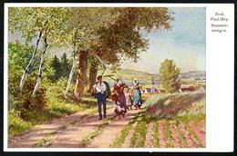 B3012 - Paul Hey - Künstlerkarte - Sommermorgen - Hans Friedrich Abshagen Dresden Nr. 719 - Hey, Paul
