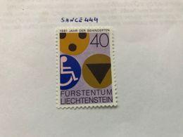 Liechtenstein International Year Of Disabled People 1981 Mnh - Liechtenstein