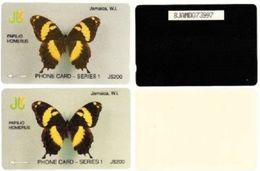 JAMAICA - GPT Papilio Homerus Test Sample Card, White Back, No Notched - Jamaica