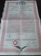 Caisse Autonome Des Monopoles Du Royaume De Roumanie 1931 - Shareholdings