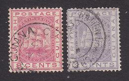 British Guiana, Scott #76-77, Used, Seal Of The Colony, Issued 1876 - British Guiana (...-1966)