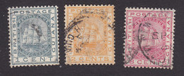 British Guiana, Scott #107-108, 111, Used, Seal Of The Colony, Issued 1882 - British Guiana (...-1966)