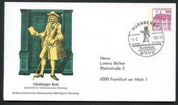 Bund PU115 B2/022 Privat-Umschlag POSTBOTE NÜRNBERG Sost. 1980 - Post