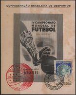 C3248-Brazil-4th World Soccer Championship Private Souvenir Card-1950 - World Cup