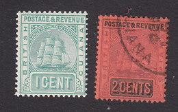 British Guiana, Scott #131, 134, Mint Hinged, Used, Seal Of The Colony, Issued 1889 - British Guiana (...-1966)