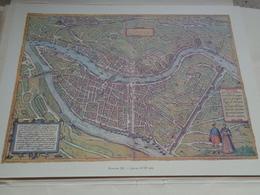 PLANCHE - Gravure - Vue D'ensemble - Plan - Lyon - 18e - Geographical Maps