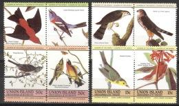 St. Vincent/Grenadinen-Union Island 8 Werte ** Postfrisch Vögel - St.Vincent & Grenadines