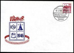 Bund PU115 B2/027 Privat-Umschlag OBENTRAUTDENKMAL HANNOVER 1980 - Monuments