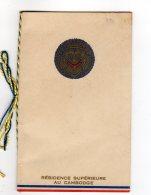 MENUS - ASIE  CAMBODGE   PHNOM PENH  MENU Résidence Supérieure Au Cambodge DINER  31 Mai 1943 AV  2018  Clas 3 - Menus