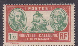 New Caledonia SG 165 1928 Definitives  1 F 25c Green And Brown MNH - Nouvelle-Calédonie