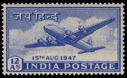 India 1947 Douglas DC-4 Lightly Mounted Mint. - 1947-49 Dominion