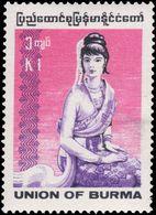 Burma 1974-78 1k Rakhine Woman Unmounted Mint. - Myanmar (Burma 1948-...)