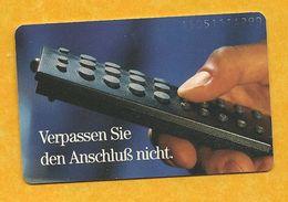 Télécarte Allemande - Telefonkarte - 12 DM - Verpassen Sie Den Anschluß Nicht. (Ne Manquez Pas La Connexion). - Deutschland