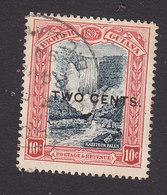 British Guiana, Scott #158, Used, Kaieteru Falls Surcharged, Issued 1899 - Guyane Britannique (...-1966)