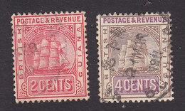 British Guiana, Scott #172b, 174, Used, Ship, Issued 1907 - British Guiana (...-1966)
