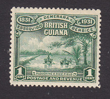 British Guiana, Scott #205, Mint Hinged, Plowing A Rice Field, Issued 1931 - British Guiana (...-1966)