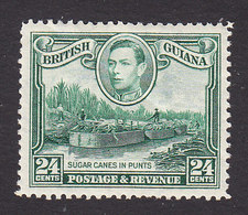 British Guiana, Scott #234, Mint Hinged, Sugar Cane Punts, Issued 1938 - British Guiana (...-1966)