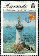 Lighthouse, Hog Fish Beacon, Bermuda Stamp SC#737 Used - Guinée-Bissau