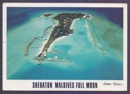 MALDIVES ISLAND Picture POSTCARD - Sheraton Maldives Full Moon, Postal Used 2013 Post Card - Maldives