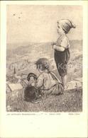 11938314 Loewe Meta Nr. 137 Wiesengrund Kinder Dackel  Kuenstlerkarte - Illustratori & Fotografie
