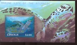 LIBERIA  2113 S  MINT NEVER HINGED MINI SHEET OF FISH-MARINE LIFE   (  0256 - Marine Life