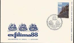 L) 1988 PERU, PALACE OF OSAMBELA, ARCHITECTURE, EXFILMA 88, FDC - Peru