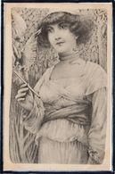 MODE - VIENNE - VIENNOISE - FEMME - ROBE - RAPACE - OISEAU - ILLUSTRATEUR - M.M. VIENNE - DOS 1900 - Mode