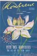 Vignette De La Fête Des Narcisses De Montreux, Du 14 Au 22 Juin 1952 ( Un Peu Plissée ) - Autres Collections