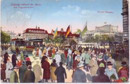 ALTE  AK   LEIPZIG / Sachen  - Am Augustusplatz & Strassenbahn  - 1930 Gelaufen - Leipzig