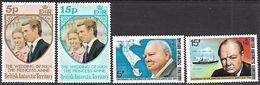 British Antarctic Territory  1973-4 Sc#60-3   Wedding & Churchill Sets MNH**   2016 Scott Value $5.85 - Unused Stamps