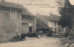 H109 - 01 - INJOUX - Ain - Intérieur Du Village Et Restaurant Morel - Francia