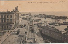 CPA -  ALGER - LE PALAIS CONSULAIRE ET LA MARINE - 34 - N. D. - Algiers