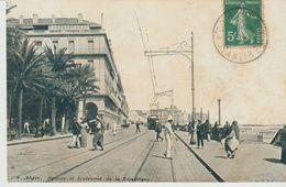CPA -  ALGER -SQUARE ET BOULEVARD DE LA RÉPUBLIQUE - 4 - L. V. S. - Algiers
