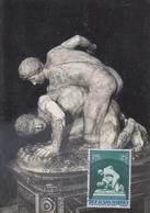 Carte  Maximum   SAN  MARINO   Lutte  Sculpture   1955 - Lutte