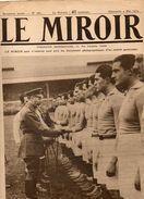Journal LE MIROIR  N°284 DU 4 MAI 1919 APRES LE MATCH DE RUGBY DE TWICKENHAM GEORGES V FELICITE L'EQUIPE FRANCAISE - Altri