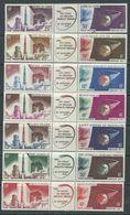 Grandes Séries Colonies Françaises : Lancement 1er Satellite Français XX, Les  7 Triptiques Sans Charnière, TB - 1966 Lancement 1e Satellite Française à Hammaguir
