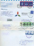 Kazakhstan.Four Envelopes Past The Mail.One Envelope Registered. - Kazakhstan