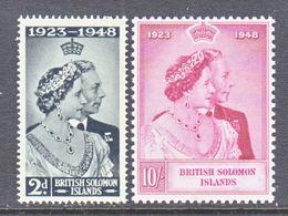 SOLOMON  ISLANDS  82-3  **   SILVER  WEDDING - Solomon Islands (1978-...)